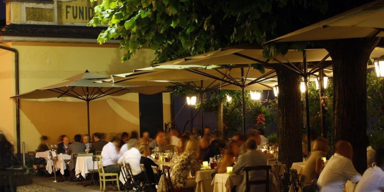 Cenare in città alta, le terrazza all\'aperto di Bergamo
