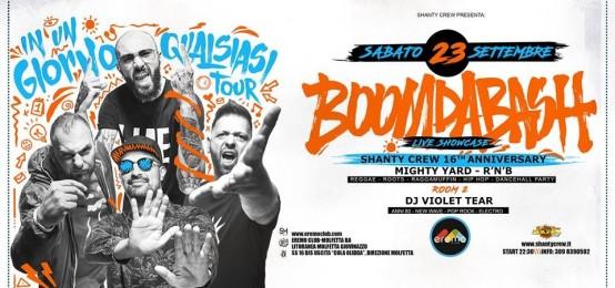 Boom Da Bash live showcase all'Eremo Club