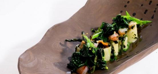 Il menu gourmet Crostacei & Asparagi di Amistà 33