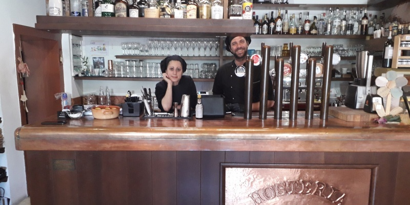 Viviana e Alessandro, la 'strana coppia' dell'Antica Hostaria dei Nobili