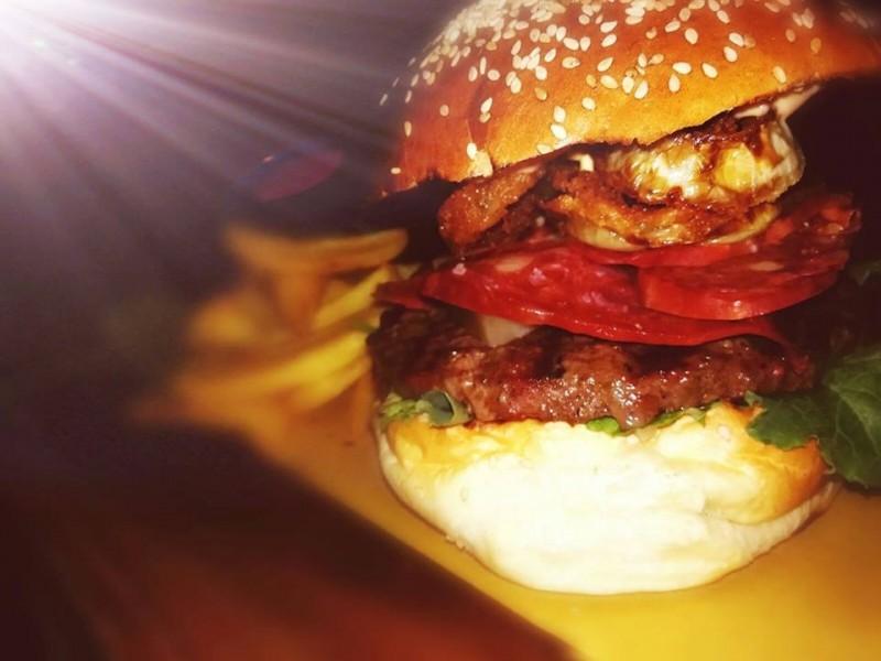 hamburger del brillo parlante