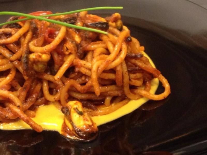 romanazzi's spaghettone bruciato