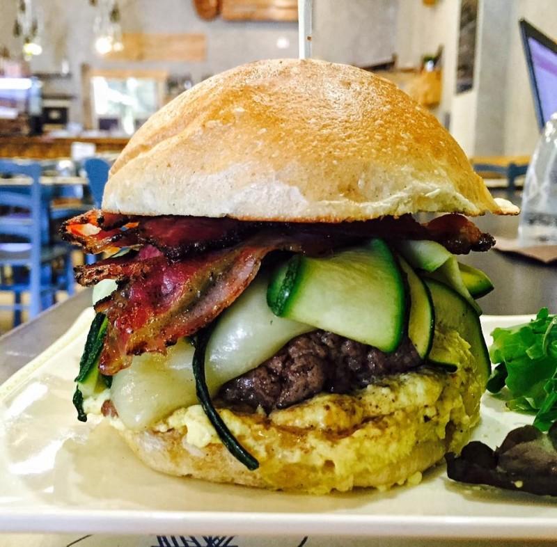 hamburger hamp pancetta tesa di martina, scottona