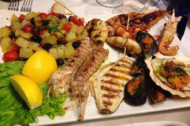 grigliata di pesce in veneto