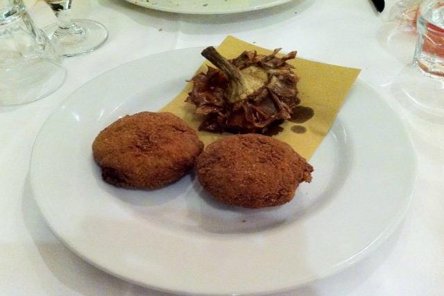 cucina giudaico romanesca migliori ristoranti roma meat carciofo alla giudia crocchetta