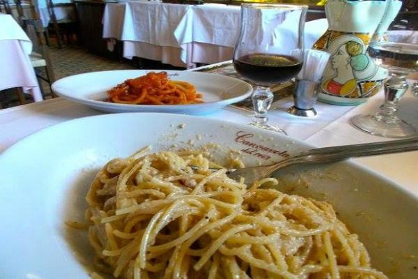 hostaria cannavota roma piazza san giovanni in laterano trattoria tipica cena cucina romana dolce vita vintage cena a san giovanni
