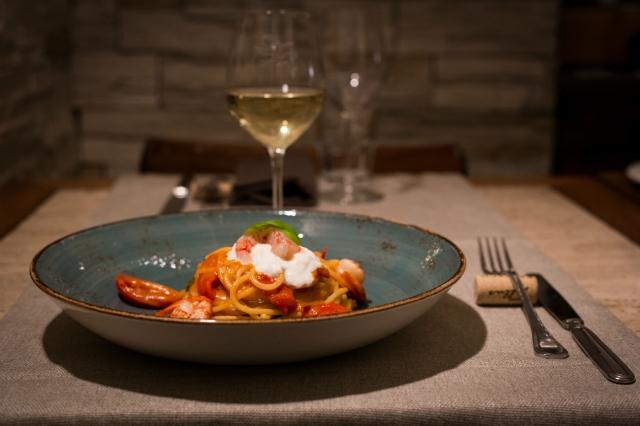 bottega trattoria de santis recensione san giovanni spaghettoni gamberoni mazara burrata