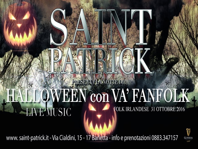 saint patrick halloween puglia barletta pub musica live folk irish pub