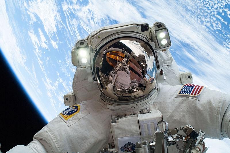 astronauta selfie fonte: nasa