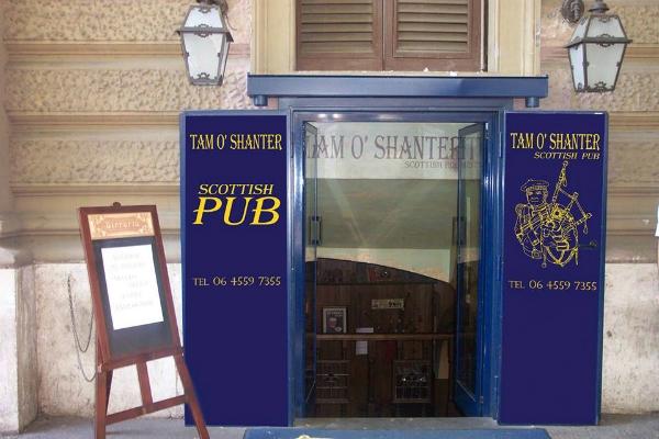 tam o'shanter pub scozzese roma prati scozia scottish pub rome terzo tempo rugby 6 nazioni birra alla spina whisky migliori scottish pub di roma