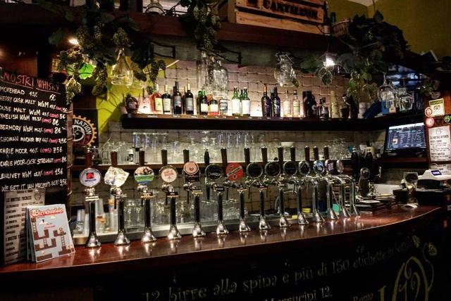 luppolo 12 pub san lorenzo dove andare a vedere le partite a roma birra alla spina artigianale
