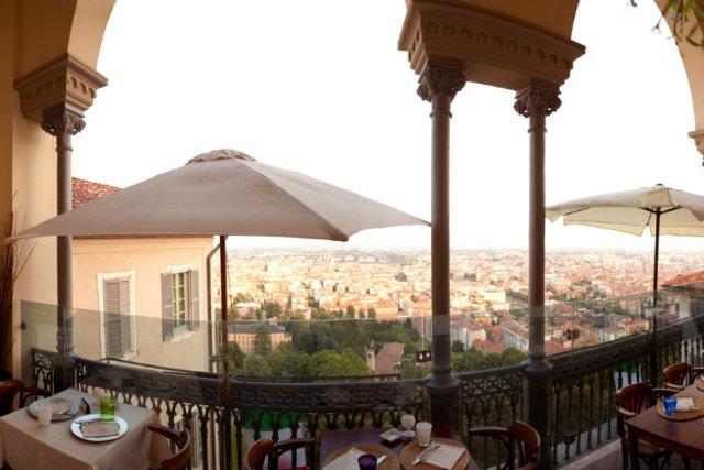 caffe funiculare vista panoramica bergamo