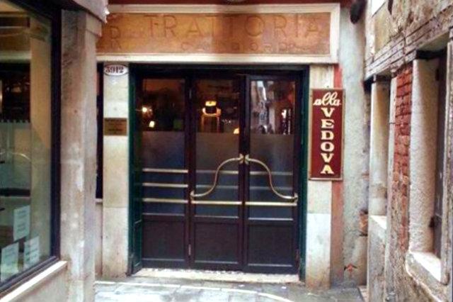 alla vedova i ristoranti nelle piccole calli a venezia