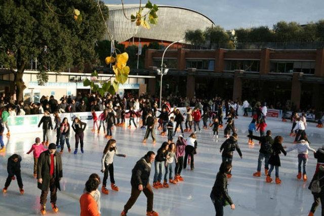 piste ghiaccio roma auditorium parco della musica