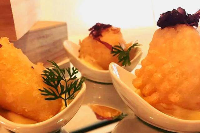 bucavino baccalà in pastella passion fruit maionese cipolla stufata chef andrea palmieri miniguida ricette baccalà a roma