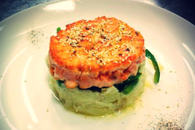hamburger salmone