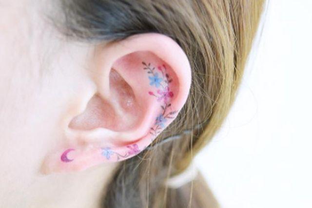 tatuaggi tendenze 2017 tatuaggio sull'orecchio