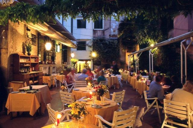 la caravella mangiare all'aperto venezia