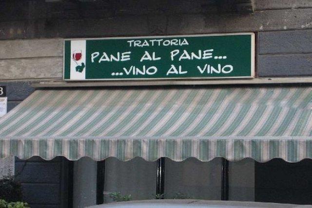pane al pane e vino al vino milano