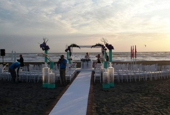 matrimonio al mare fronte mare fregene