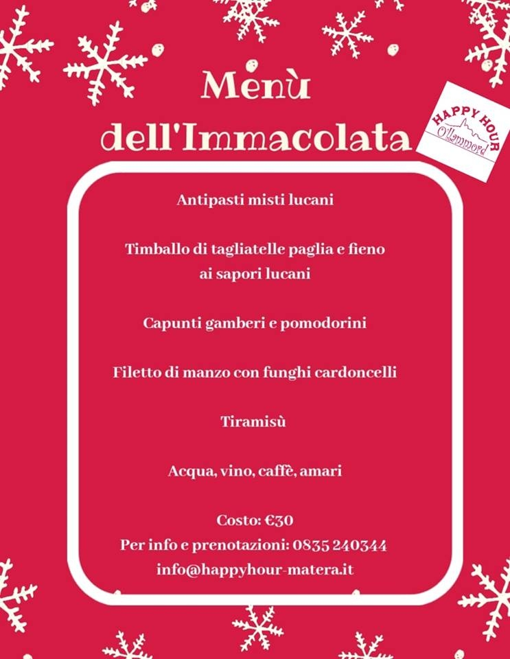 immacolata happy hour ollammord