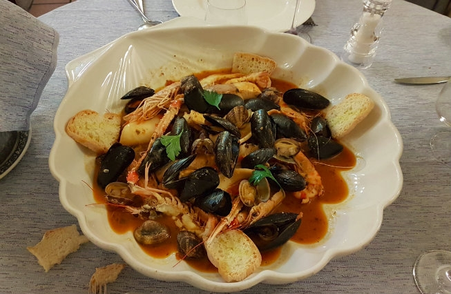 zuppa di pesce trattoria vittoria firenze