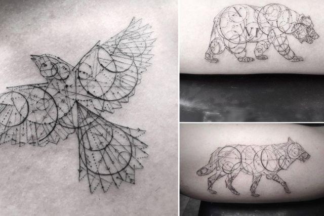 tatuaggi tendenze 2017 forme geometriche