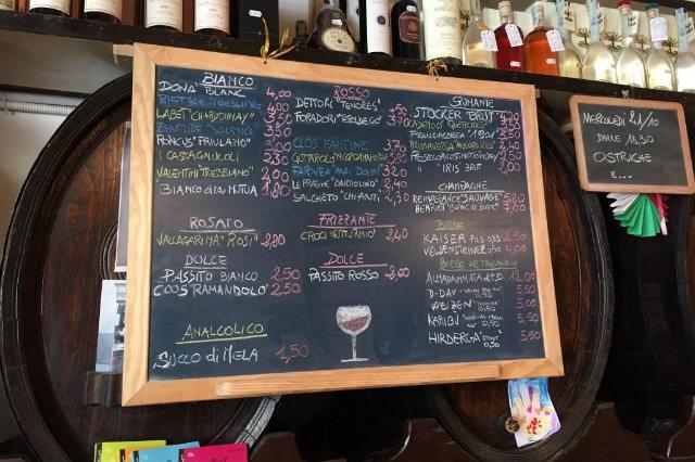 wine bar veneto