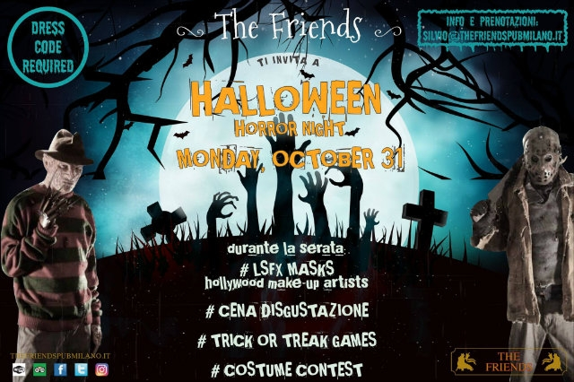 the friends halloween milano