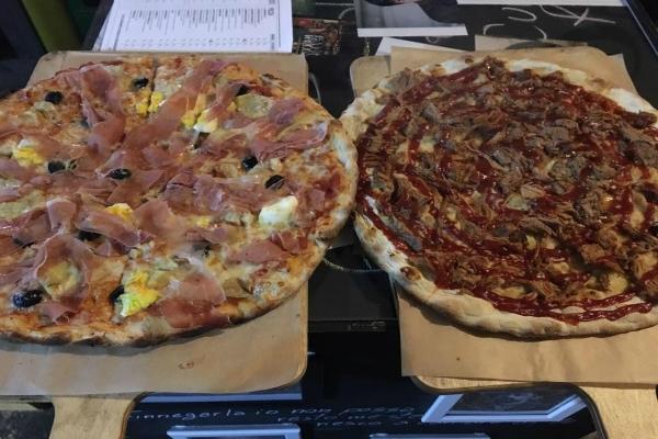 officine resta giro pizza senza limiti bevande birra supplì hamburger officina garage cena tra amici cena fuori al portuense roma