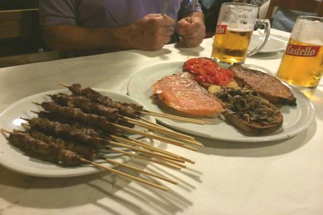 al gallo rosso pizzeria nomentano arrosticini bruschette ristoranti roma spendere poco