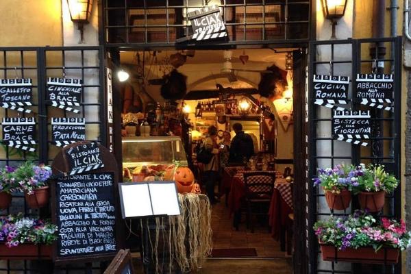 il ciak ristorante roma bisteccheria steakhouse trastevere piazza trilussa cacciagione cervo costine dove mangiare carni particolari a roma