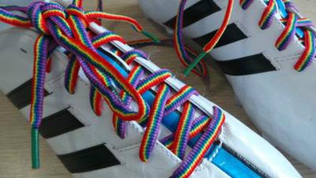 lacci scarpe arcobaleno