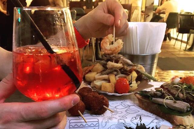 aperitivo the squid padova frittura pesce sptritz